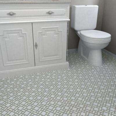 University White 11-3/4 in. x 11-3/4 in. x 5 mm Porcelain Mosaic Tile (9.8 sq. ft. / case)