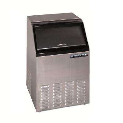 100 lb. Freestanding Icemaker in Stainless Steel