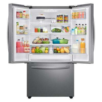 28.2 cu. ft French Door Refrigerator in Stainless Steel