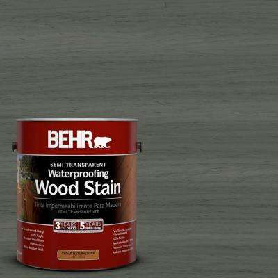 1-gal. #ST-131 Pewter Semi-Transparent Waterproofing Wood Stain