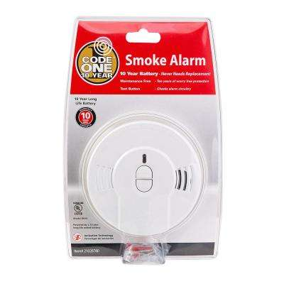 Code One 10-Year Sealed Battery Smoke Detector with Ionization Sensor