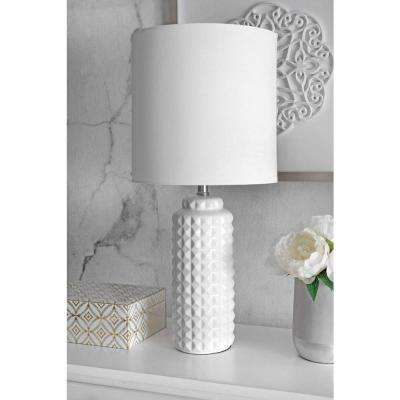 Heather 26 in. White Table Lamp