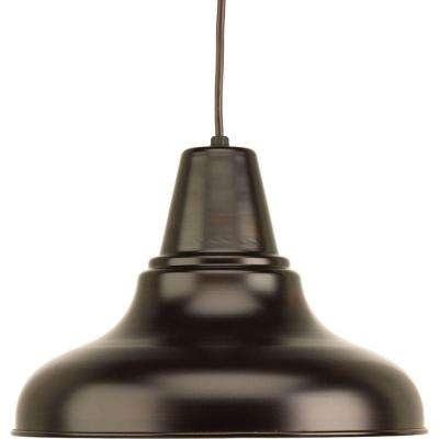 District Collection 1-Light Antique Bronze Hanging Lantern