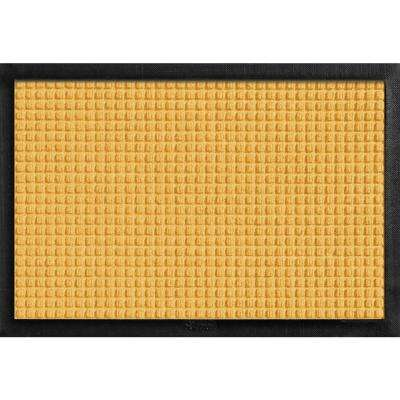 Aqua Shield with Rubber Border Yellow 17.5 in. x 26.5 in. Pet Mat