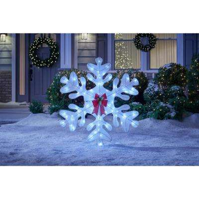 Spirited Sparkle 48 in. Christmas Cool White LED Twinkling Snowflake