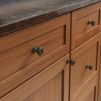 Refined Farmhouse 1-3/16 in. (30 mm) Warm Chestnut Cabinet Knob