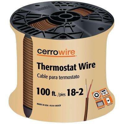100 ft. 18/2 Solid Thermostat Wire, Brown