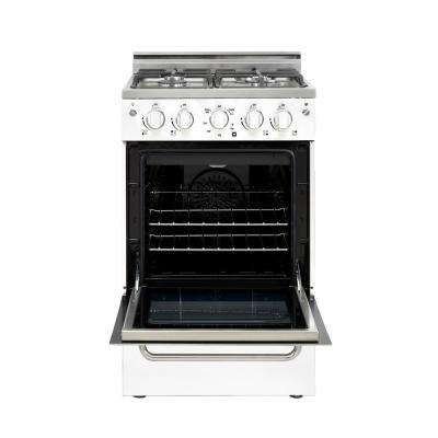 Prestige 20 in. 1.6 cu. ft. Gas Convection Range Sealed 4-Burners in White