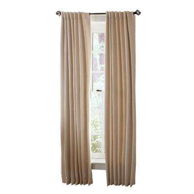 Faux Silk Room Darkening Back Tab Curtain