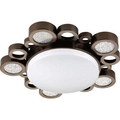 Bingo Collection 1-Light Venetian Bronze LED Flush Mount