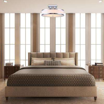 Foster Chrome LED Flush Mount with Flat Opal Glass
