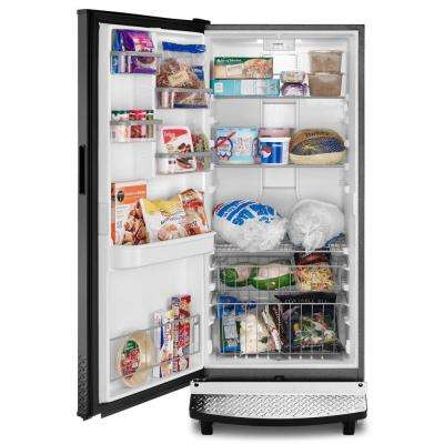 17.8 cu. ft. Upright Rolling Garage Freezer in Black