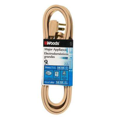 9 ft. Air Conditioner Appliance Cord, Beige
