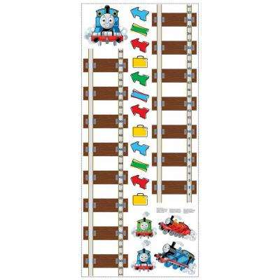5 in. x 19 in. Thomas and Friends 19-Piece Peel and Stick Growth Chart