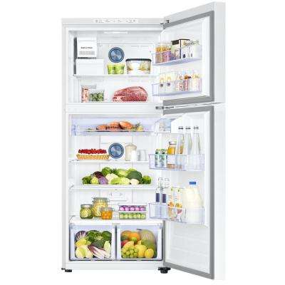 17.6 cu. ft. Top Freezer Refrigerator with FlexZone Freezer in White, Energy Star, Ice Maker