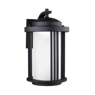 Crowell 1-Light Black Wall Lantern
