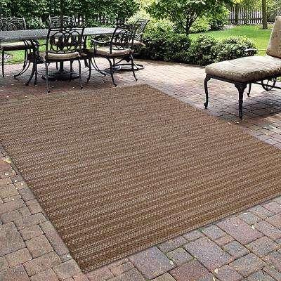Jennings Chestnut/Grain 8 ft. x 10 ft. Indoor/Outdoor Area Rug