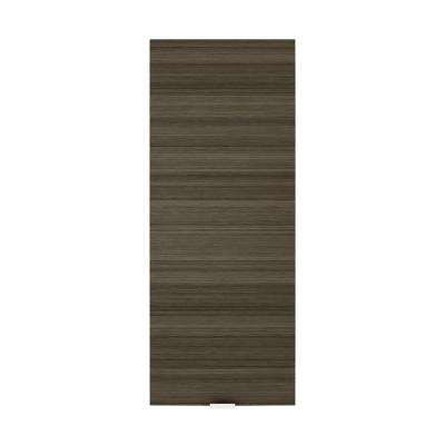 Textures Collection 12 in. W x 30 in. H x 5 in. D Surface Mount Medicine Cabinet in Spring Blossom