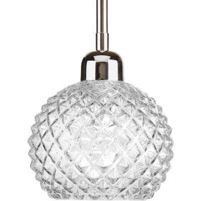 Entice Collection 1-Light Polished Nickel Mini Pendant