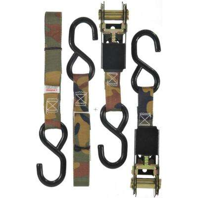 6 ft. x 1 in. 1200 lb. ATV/Cycle Tie-Down Camo Ratchet 2 Pack