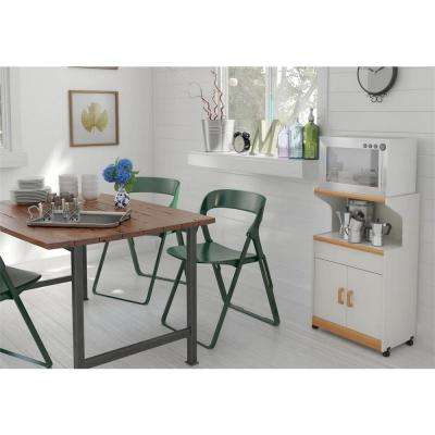 Hannah White Microwave Cart with Storage
