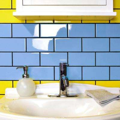 Park Slope Calm Blue 3 in. x 6 in. Ceramic Wall Subway Tile (19.18 sq. ft. / case)