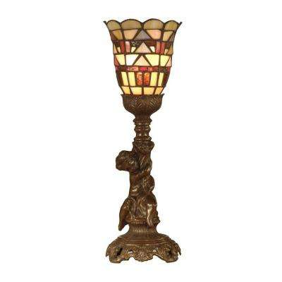 Mission Style 15.5 in. Antique Bronze Accent Lamp