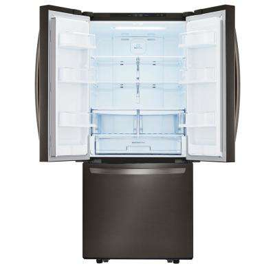 21.8 cu. ft. French Door Refrigerator in Black Stainless Steel
