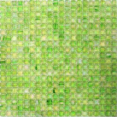Breeze Green Apple 12-3/4 in. x 12-3/4 in. x 6 mm Glass Mosaic Tile