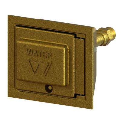 3/4 in. Female SWT x CC Freezeless Brass Box Wall Hydrant with Double-Check Backflow Preventer