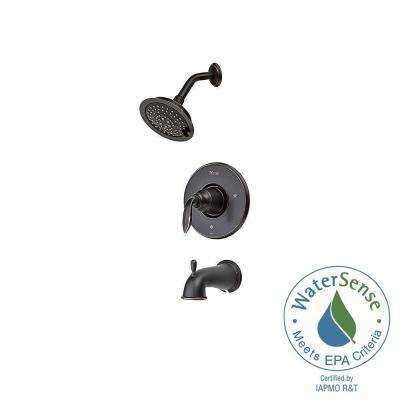 Avalon Single-Handle Tub and Shower Trim Kit in Tuscan Bronze (Valve Not Included)