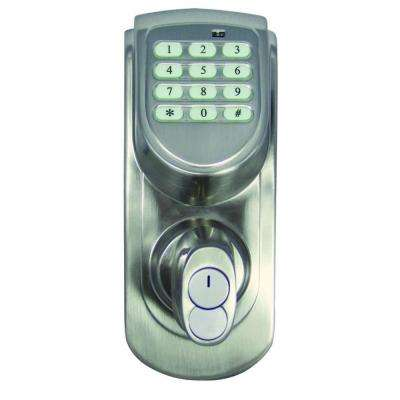 Electronic Satin Nickel Keypad Deadbolt