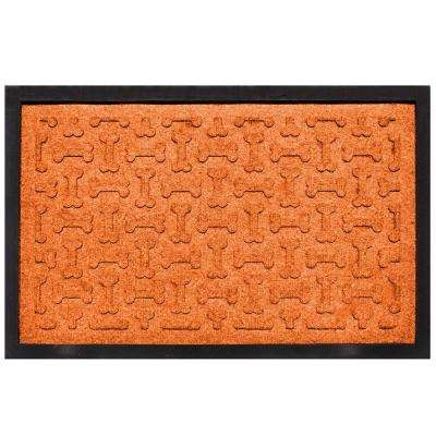 Orange 18 in. x 27 in. Dog Treats Boot Tray