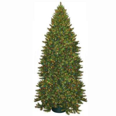 12 ft. Pre-Lit Carolina Fir Artificial Christmas Tree with Multi-Color Lights