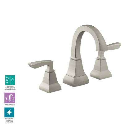 Kallan 8 in. Widespread 2-Handle Bathroom Faucet in Vibrant Brushed Nickel