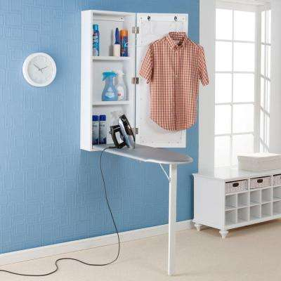 Argonne Wall Mount Ironing Center in Off-White