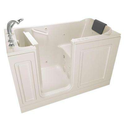 Acrylic Luxury Series 4.9 ft. Walk-In Whirlpool and Air Bathtub in Linen