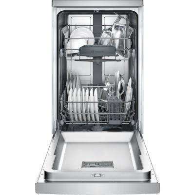 300 Series 18 in. Compact Front Control Tall Tub Dishwasher in Stainless Steel with Stainless Steel Tub, 46dBA