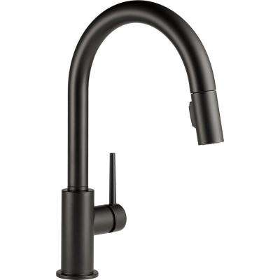 Trinsic Single-Handle Pull-Down Sprayer Kitchen Faucet with MagnaTite Docking in Matte Black