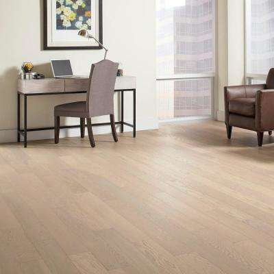 Wire Brushed Oak Frost 3/8 in. Thick x 5 in. Wide x Varying Length Click Lock Hardwood Flooring (19.686 sq. ft. / case)