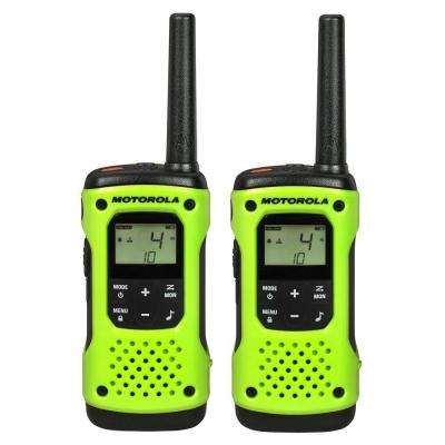 Talkabout T600 Rechargeable 2-Way Radio, Green (2-Pack)