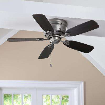 Low Profile IV 42 in. Indoor Antique Pewter Ceiling Fan