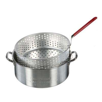 10 qt. Aluminum Fry Pot with Perforated Basket