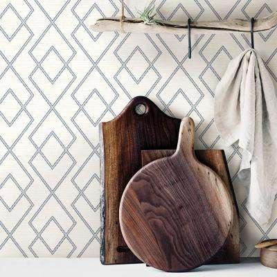 56.4 sq. ft. Blaze Eggshell Trellis Wallpaper