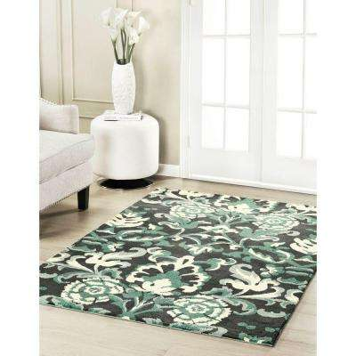 Penelope Plush Knit Duck Egg Blue 2 ft. x 3 ft. Area Rug