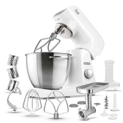 Robust Full-Metal Body with Metal Gears in Stand Mixer in Pastel White