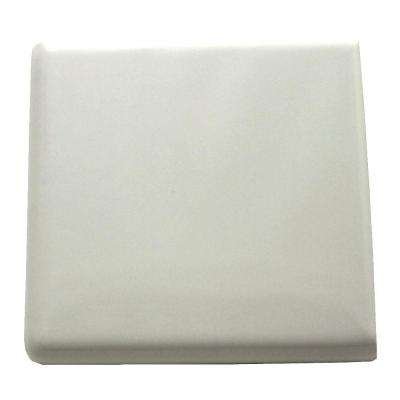 Semi-Gloss White 2 in. x 2 in. Ceramic Bullnose Out Corner Wall Tile
