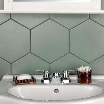 """Textile Basic Hex Kale 8-5/8""""x9-7/8"""" Porcelain F/W Tile"""