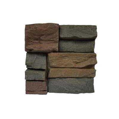 Stacked Stone Keystone 11 in. x 11 in. Faux Stone Siding Sample