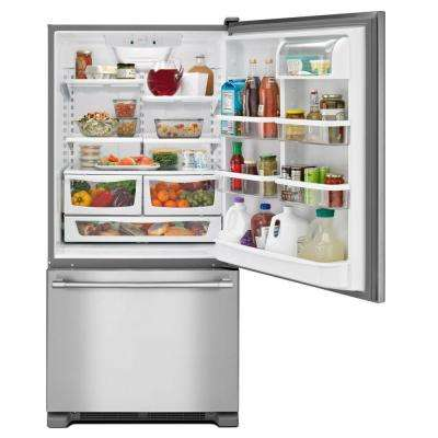 19 cu. ft. Bottom Freezer Refrigerator in Fingerprint Resistant Stainless Steel